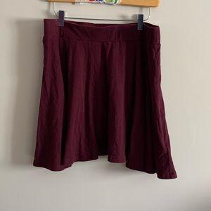 Pins & Needles Size Large Skater Skirt Burgundy